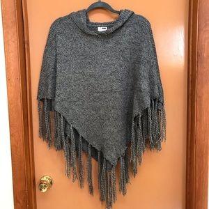 RUMOR LF Sweater Poncho, Chic Gray Size M/L